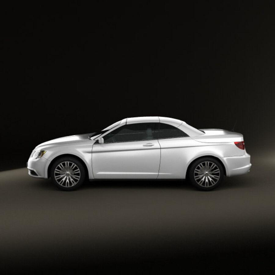 Chrysler 200 Convertible 2011 royalty-free 3d model - Preview no. 5