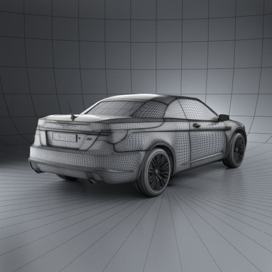 Chrysler 200 Convertible 2011 royalty-free 3d model - Preview no. 4