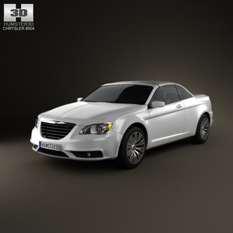克莱斯勒200 Convertible 2011 royalty-free 3d model - Preview no. 1