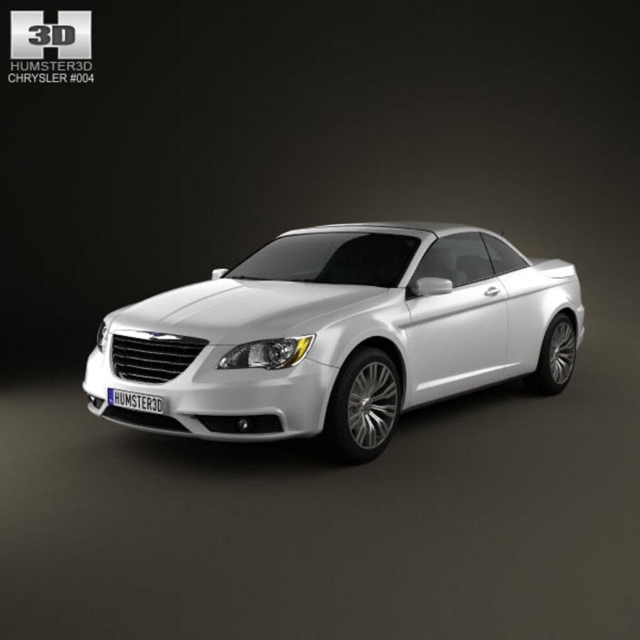 Chrysler 200 Convertible 2011 royalty-free 3d model - Preview no. 1