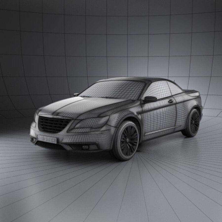 克莱斯勒200 Convertible 2011 royalty-free 3d model - Preview no. 3
