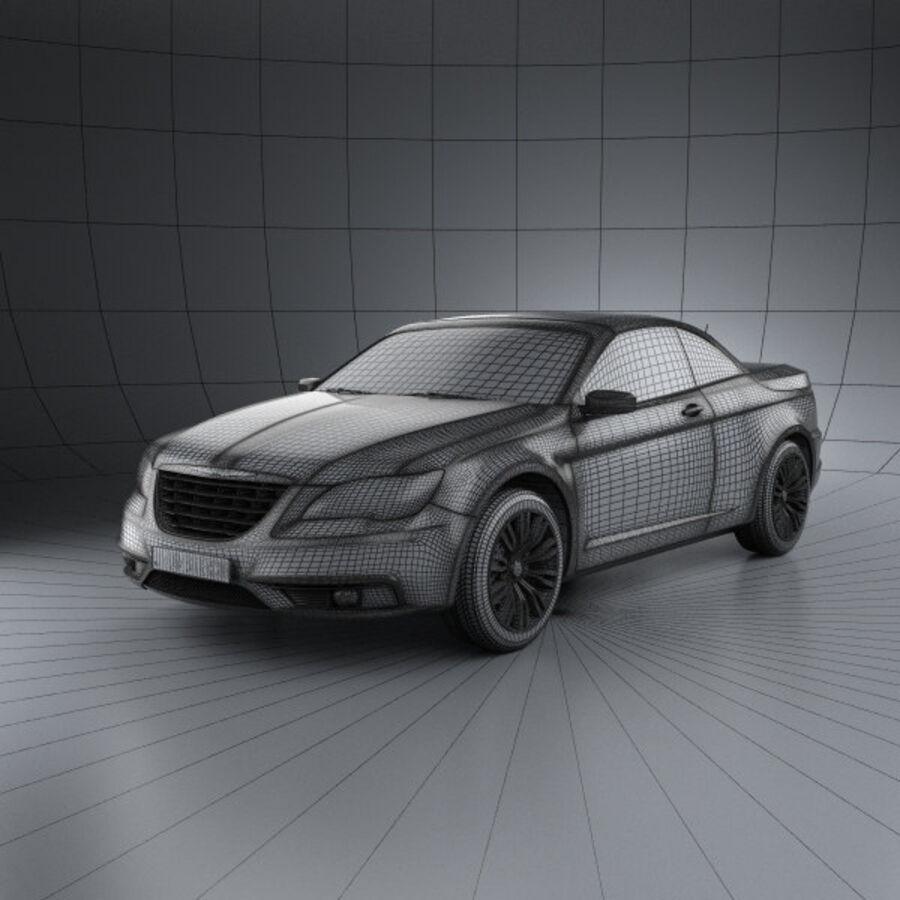 Chrysler 200 Convertible 2011 royalty-free 3d model - Preview no. 3