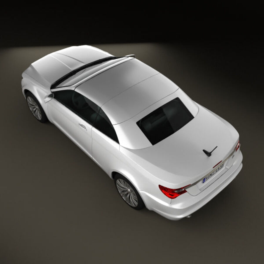 克莱斯勒200 Convertible 2011 royalty-free 3d model - Preview no. 8