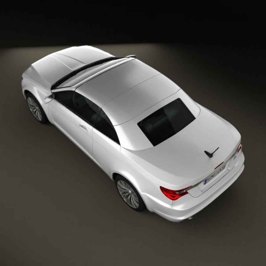 Chrysler 200 Convertible 2011 royalty-free 3d model - Preview no. 8