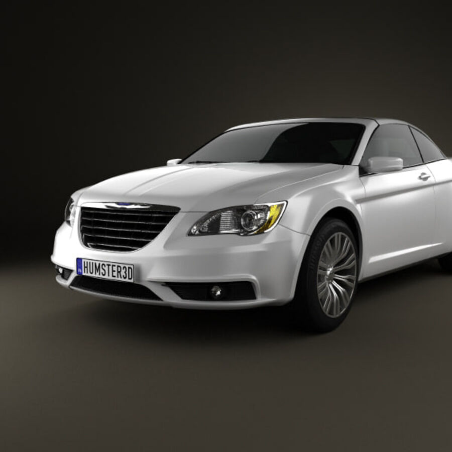 克莱斯勒200 Convertible 2011 royalty-free 3d model - Preview no. 6