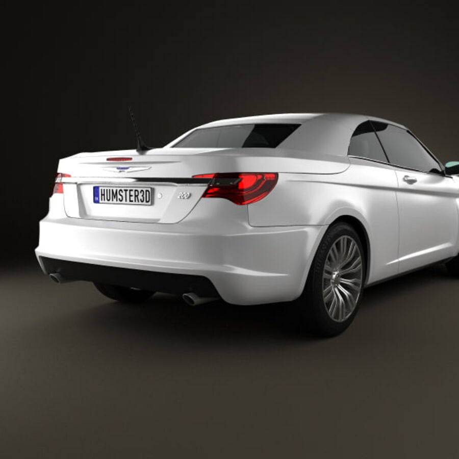 Chrysler 200 Convertible 2011 royalty-free 3d model - Preview no. 7