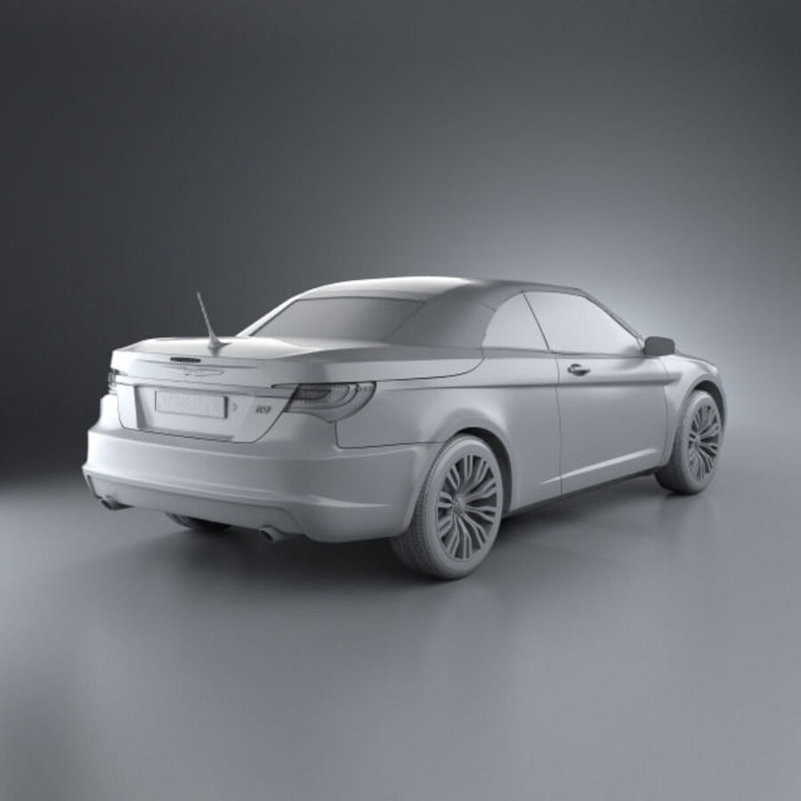 克莱斯勒200 Convertible 2011 royalty-free 3d model - Preview no. 12
