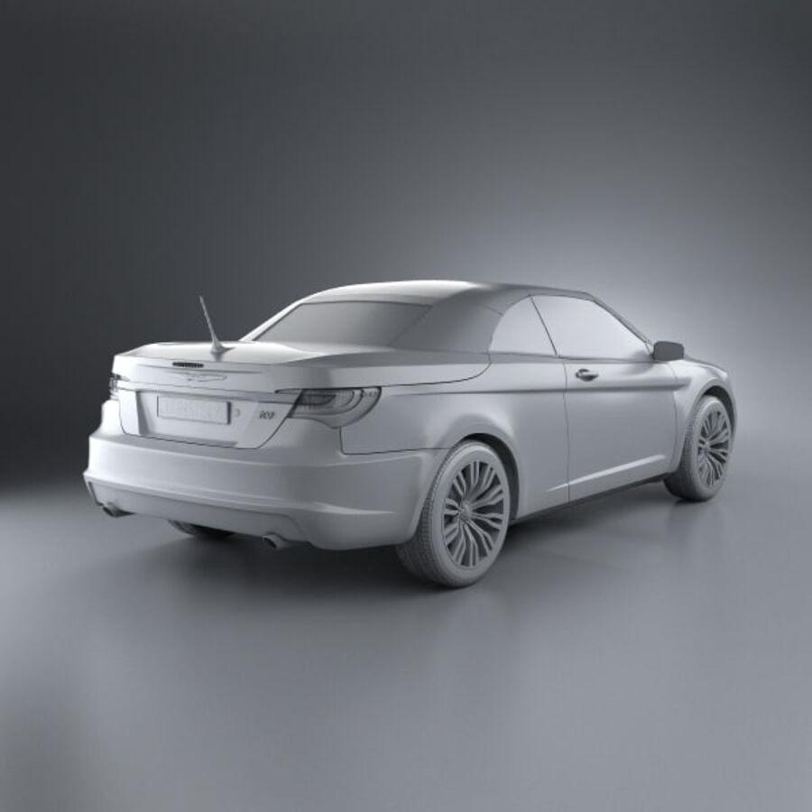 Chrysler 200 Convertible 2011 royalty-free 3d model - Preview no. 12