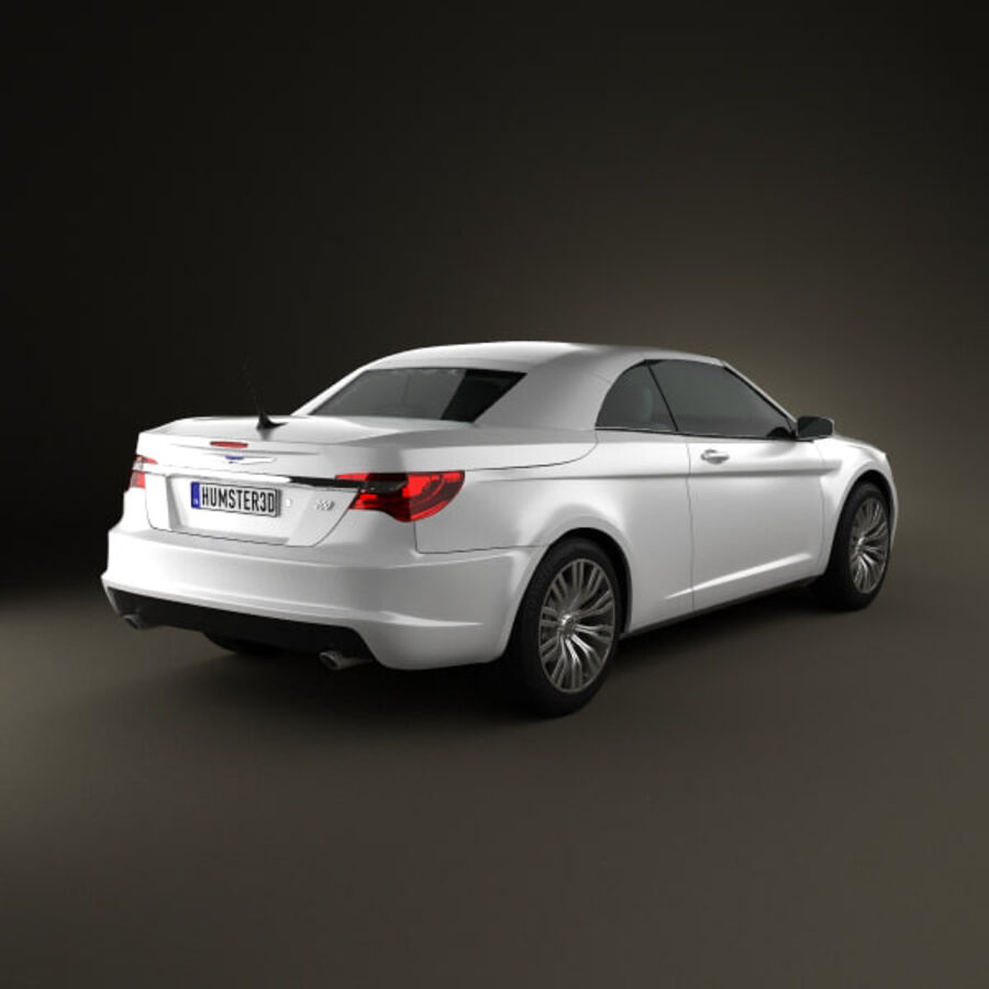 克莱斯勒200 Convertible 2011 royalty-free 3d model - Preview no. 2