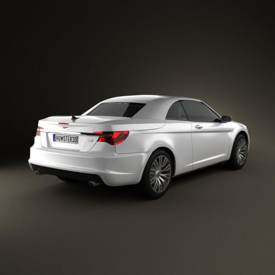 Chrysler 200 Convertible 2011 royalty-free 3d model - Preview no. 2