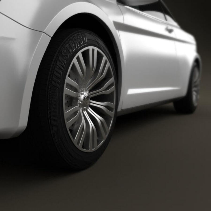 Chrysler 200 Convertible 2011 royalty-free 3d model - Preview no. 9