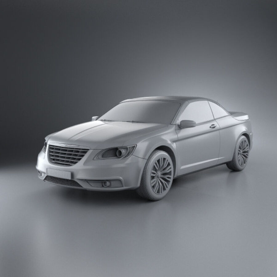 克莱斯勒200 Convertible 2011 royalty-free 3d model - Preview no. 11