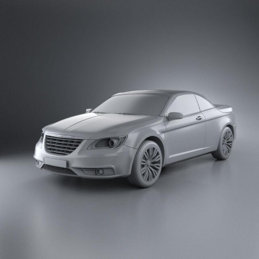 Chrysler 200 Convertible 2011 royalty-free 3d model - Preview no. 11