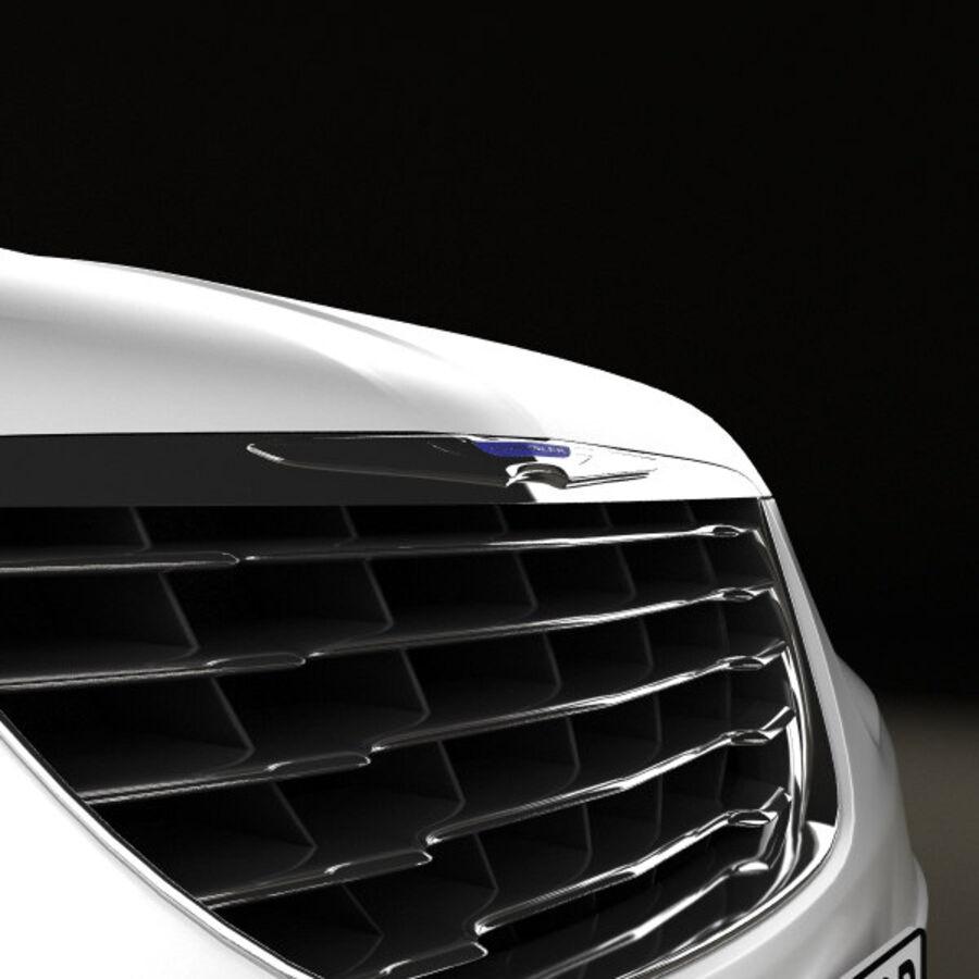 Chrysler 200 Convertible 2011 royalty-free 3d model - Preview no. 10