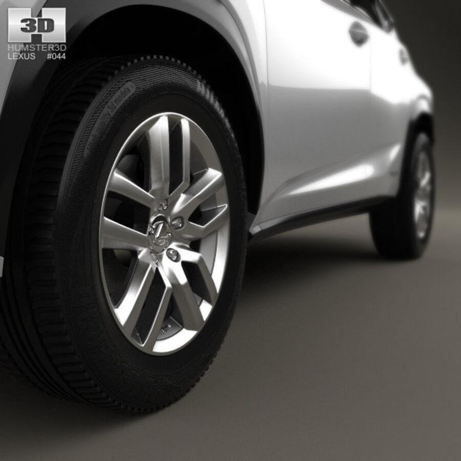 レクサスNXハイブリッド2014 royalty-free 3d model - Preview no. 8