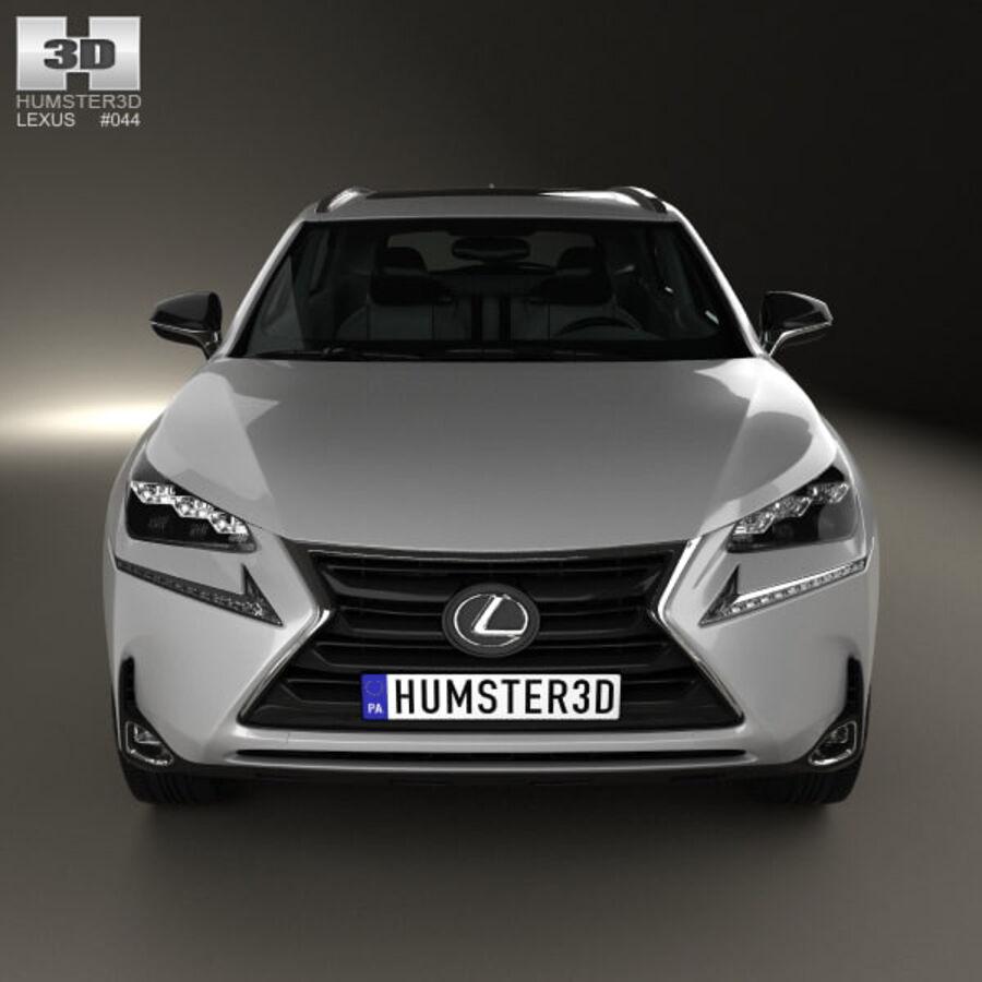レクサスNXハイブリッド2014 royalty-free 3d model - Preview no. 10