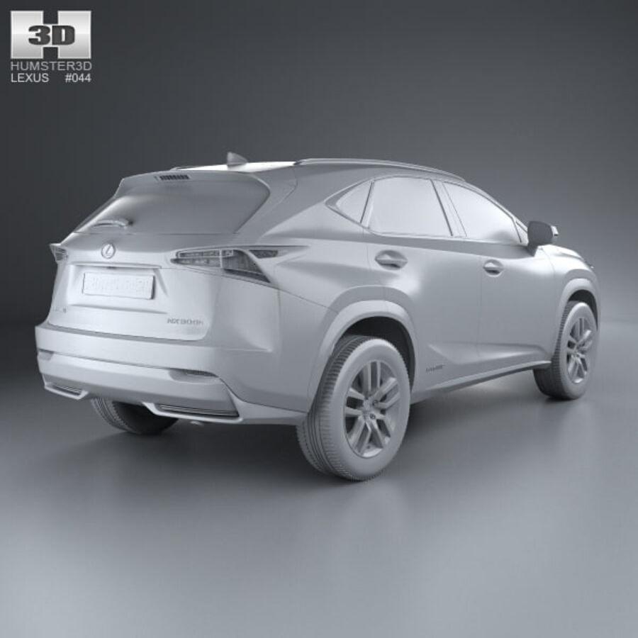 レクサスNXハイブリッド2014 royalty-free 3d model - Preview no. 12