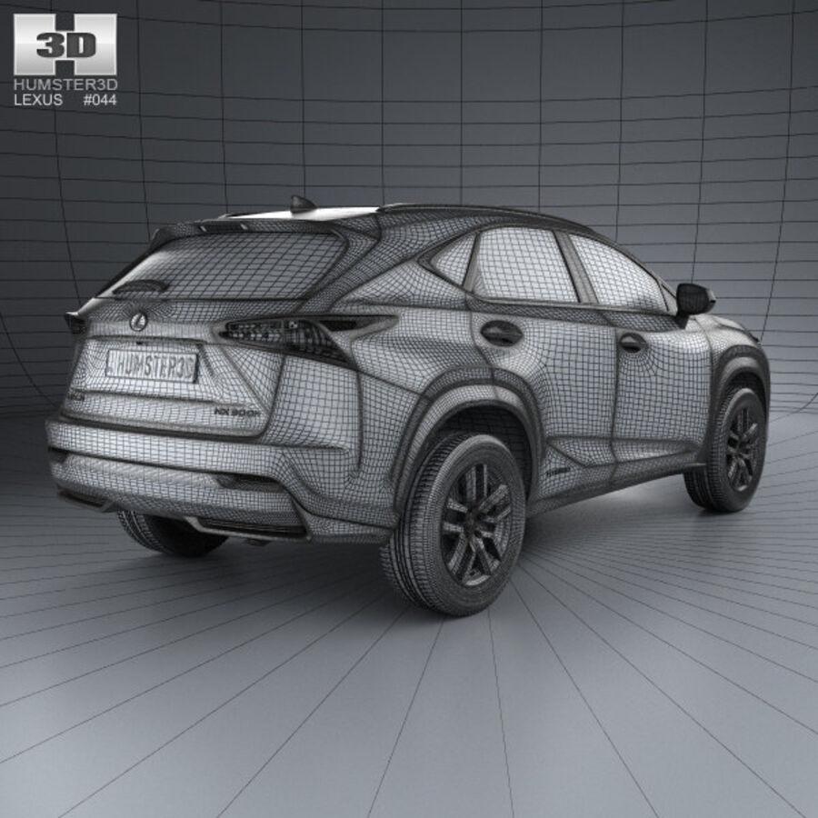 レクサスNXハイブリッド2014 royalty-free 3d model - Preview no. 4