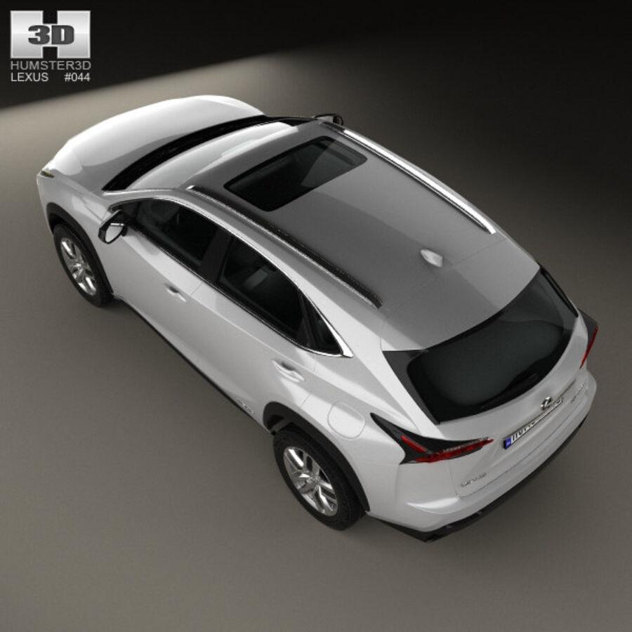 レクサスNXハイブリッド2014 royalty-free 3d model - Preview no. 9