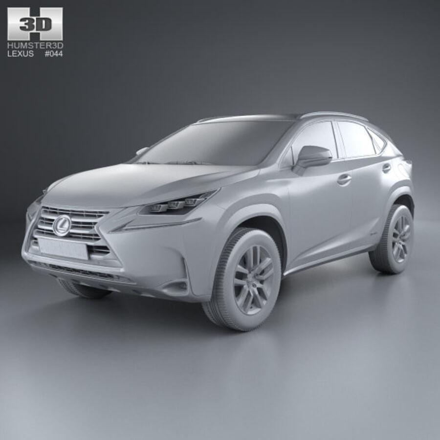 レクサスNXハイブリッド2014 royalty-free 3d model - Preview no. 11