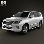 Лексус LX 2013 3d model