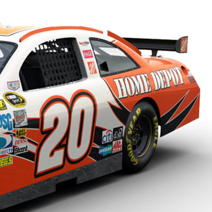 Nascar COT Stock Car - Joey Logano Camry royalty-free modelo 3d - Preview no. 5