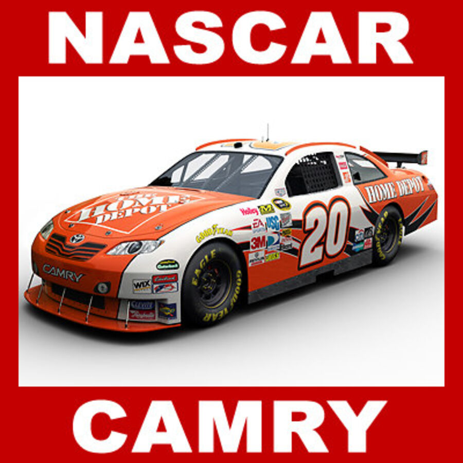 Nascar COT Stock Car - Joey Logano Camry royalty-free modelo 3d - Preview no. 1