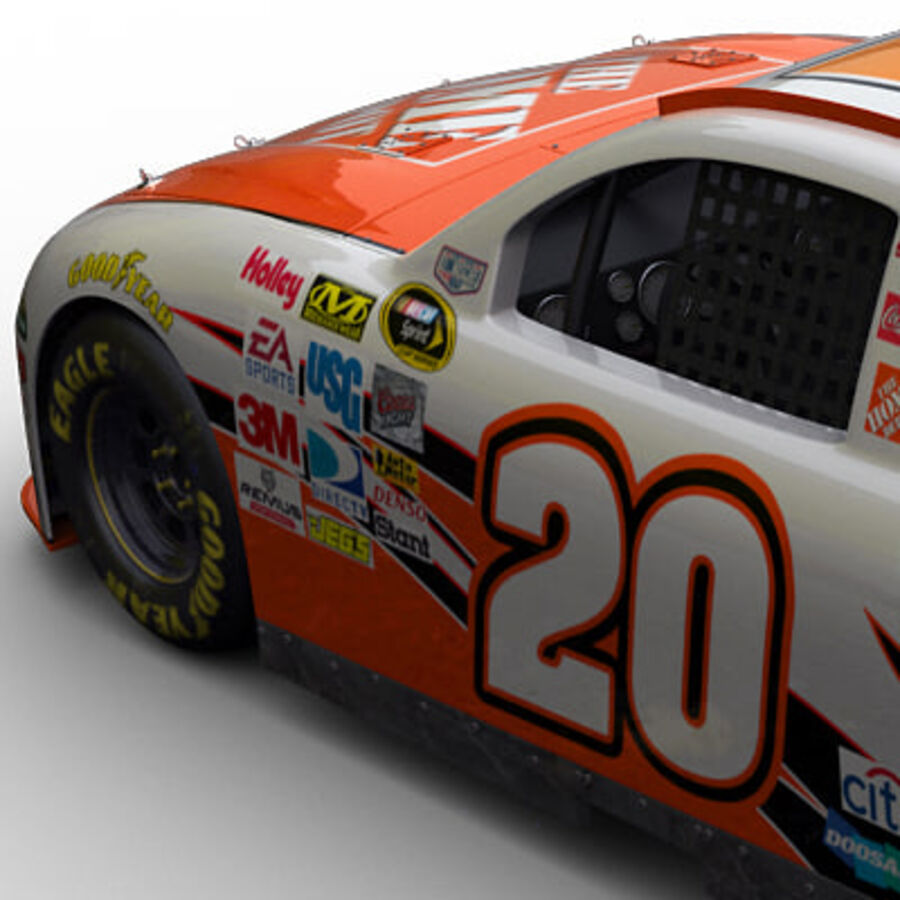 Nascar COT Stock Car - Joey Logano Camry royalty-free modelo 3d - Preview no. 7