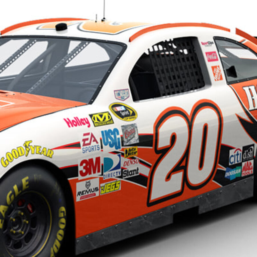 Nascar COT Stock Car - Joey Logano Camry royalty-free modelo 3d - Preview no. 4