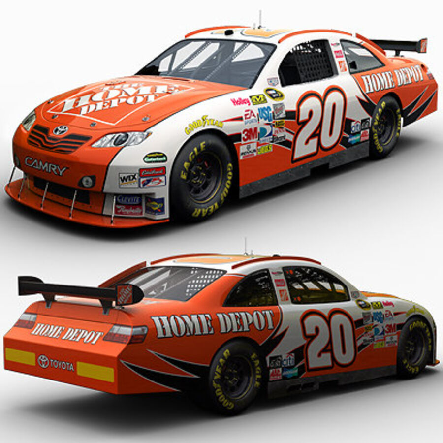 Nascar COT Stock Car - Joey Logano Camry royalty-free modelo 3d - Preview no. 2