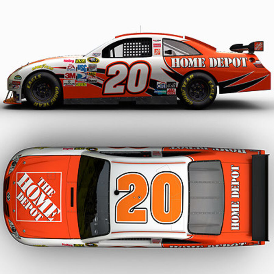 Nascar COT Stock Car - Joey Logano Camry royalty-free modelo 3d - Preview no. 10