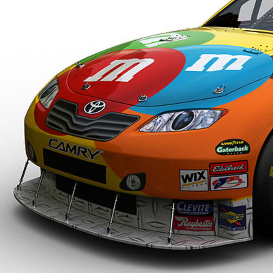 Nascar COT Stock Car - Kyle Busch Camry royalty-free modelo 3d - Preview no. 3