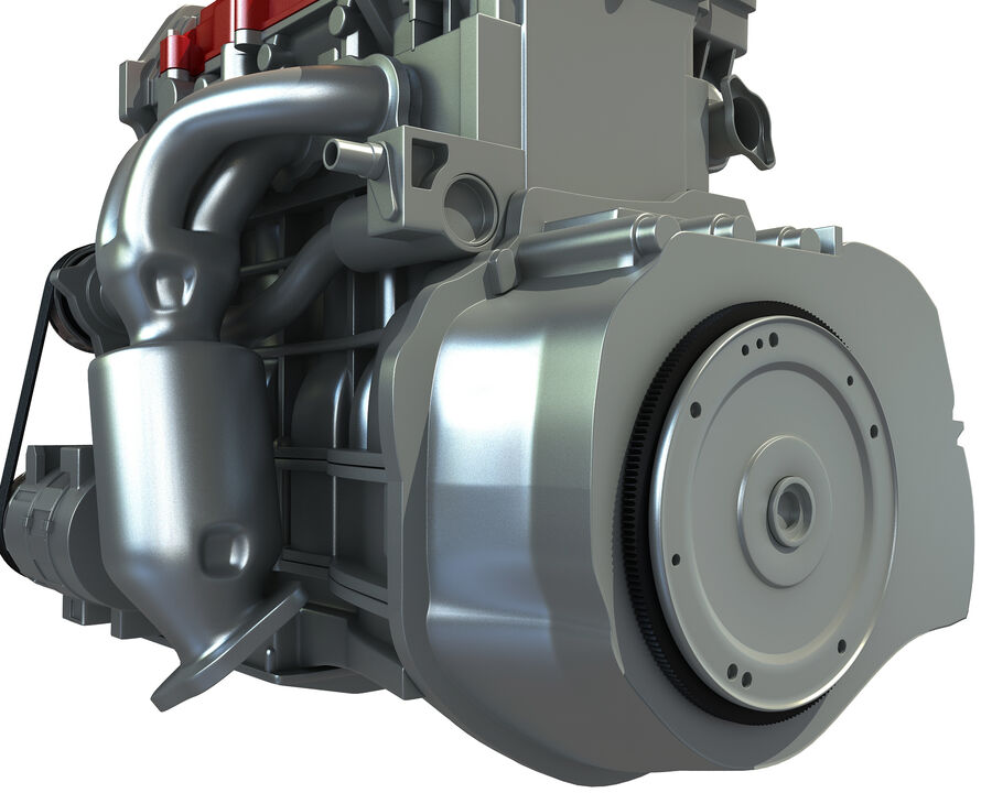 4 Zylinder Motor royalty-free 3d model - Preview no. 13