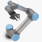 写実的なユニバーサルロボットとRobotiq 2指アダプティブグリッパーを組み合わせたUR5 3d model