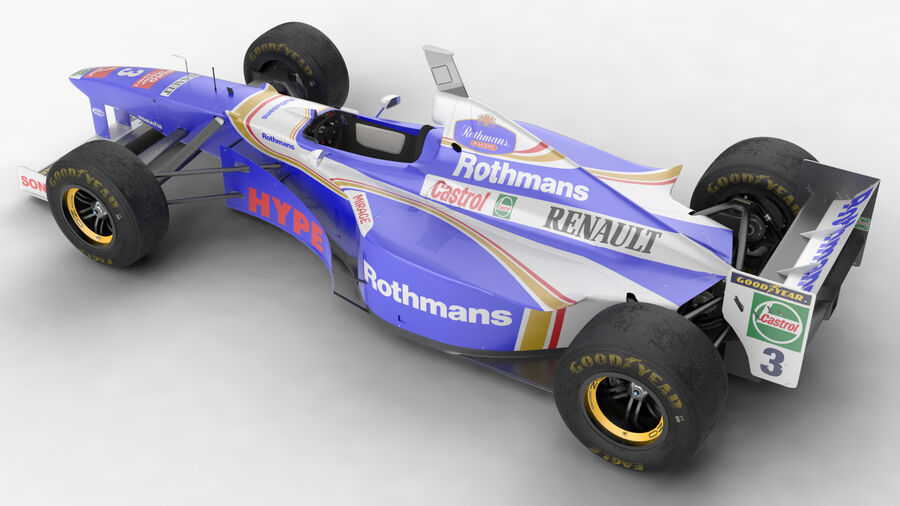 Williams FW19 royalty-free 3d model - Preview no. 8