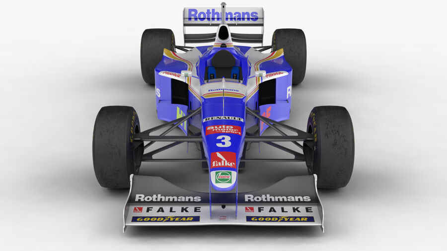 Williams FW19 royalty-free 3d model - Preview no. 3
