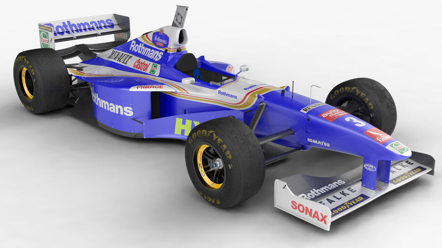 Williams FW19 royalty-free 3d model - Preview no. 4