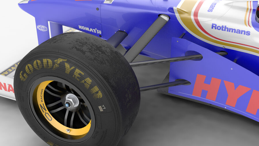 Williams FW19 royalty-free 3d model - Preview no. 20