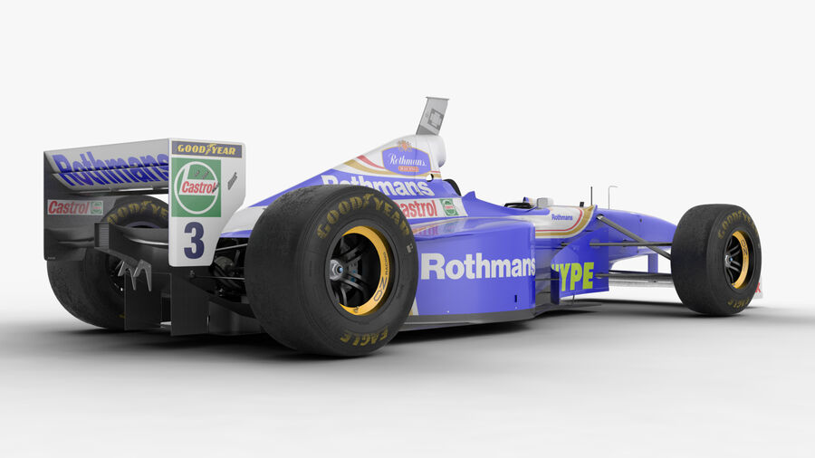 Williams FW19 royalty-free 3d model - Preview no. 14