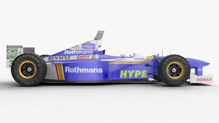 Williams FW19 royalty-free 3d model - Preview no. 13