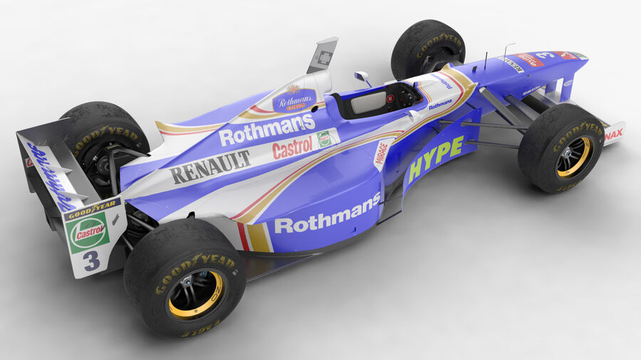 Williams FW19 royalty-free 3d model - Preview no. 6