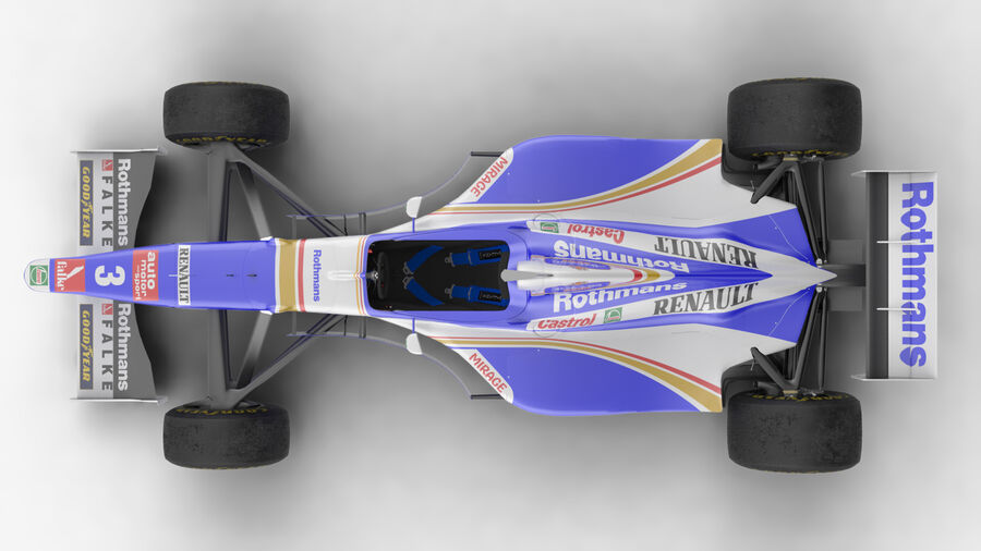 Williams FW19 royalty-free 3d model - Preview no. 18