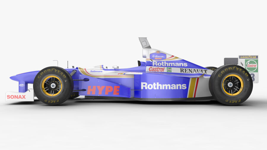 Williams FW19 royalty-free 3d model - Preview no. 17