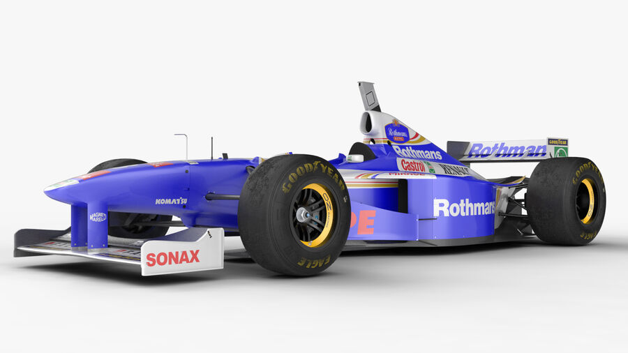 Williams FW19 royalty-free 3d model - Preview no. 10