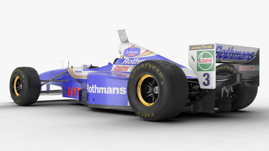 Williams FW19 royalty-free 3d model - Preview no. 16