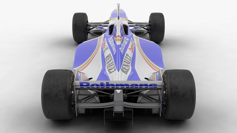 Williams FW19 royalty-free 3d model - Preview no. 7