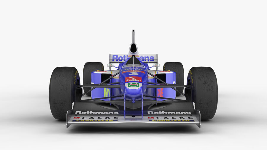 Williams FW19 royalty-free 3d model - Preview no. 11