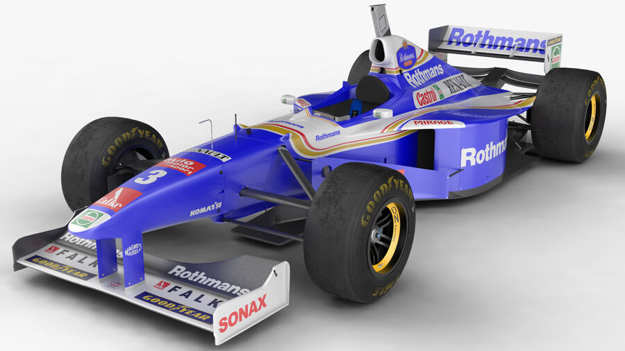 Williams FW19 royalty-free 3d model - Preview no. 2