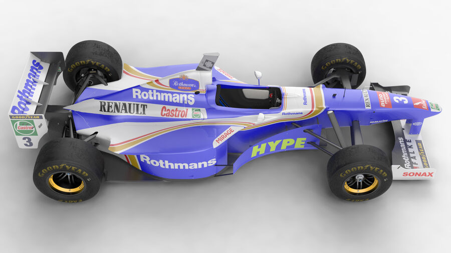Williams FW19 royalty-free 3d model - Preview no. 5