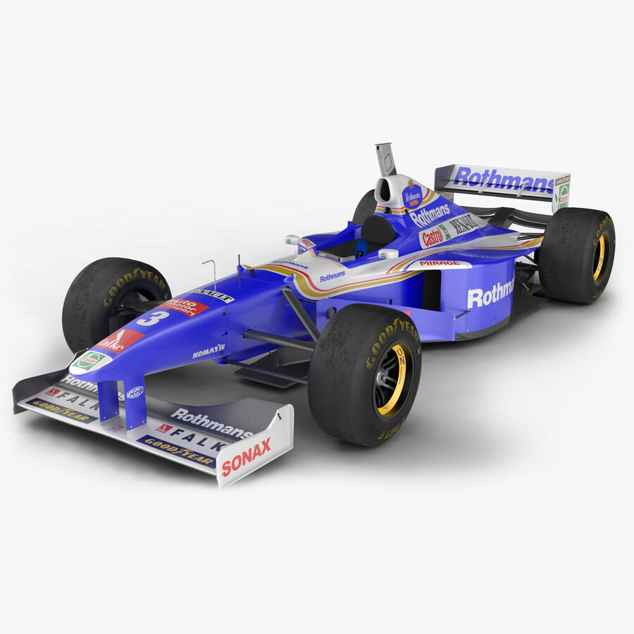Williams FW19 royalty-free 3d model - Preview no. 1
